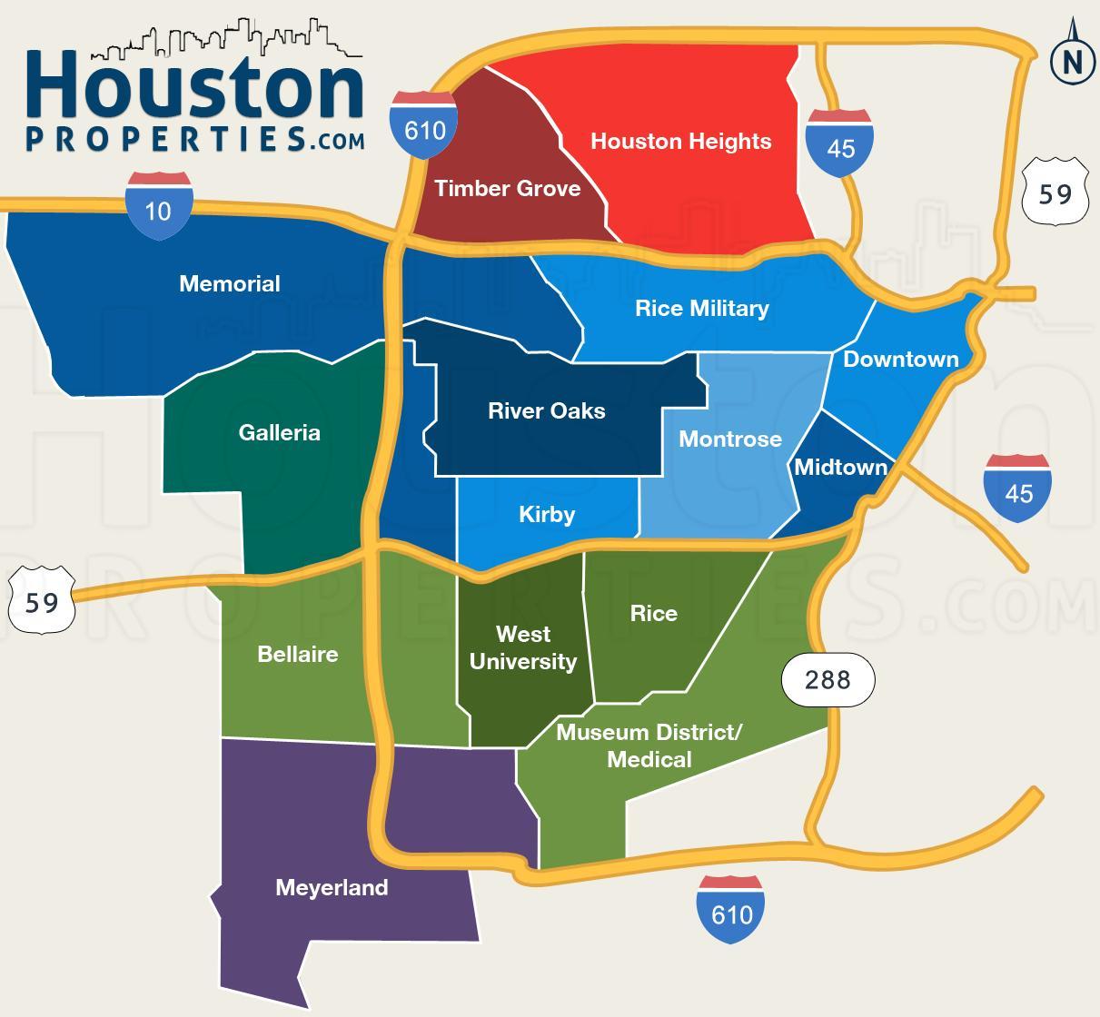 Houston tx mapa de Houston texas no mapa Texas EUA